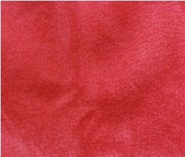 Raspberry Red Velour Suede Leather Half Skin